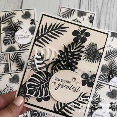 Black and White Tropical Escape Card